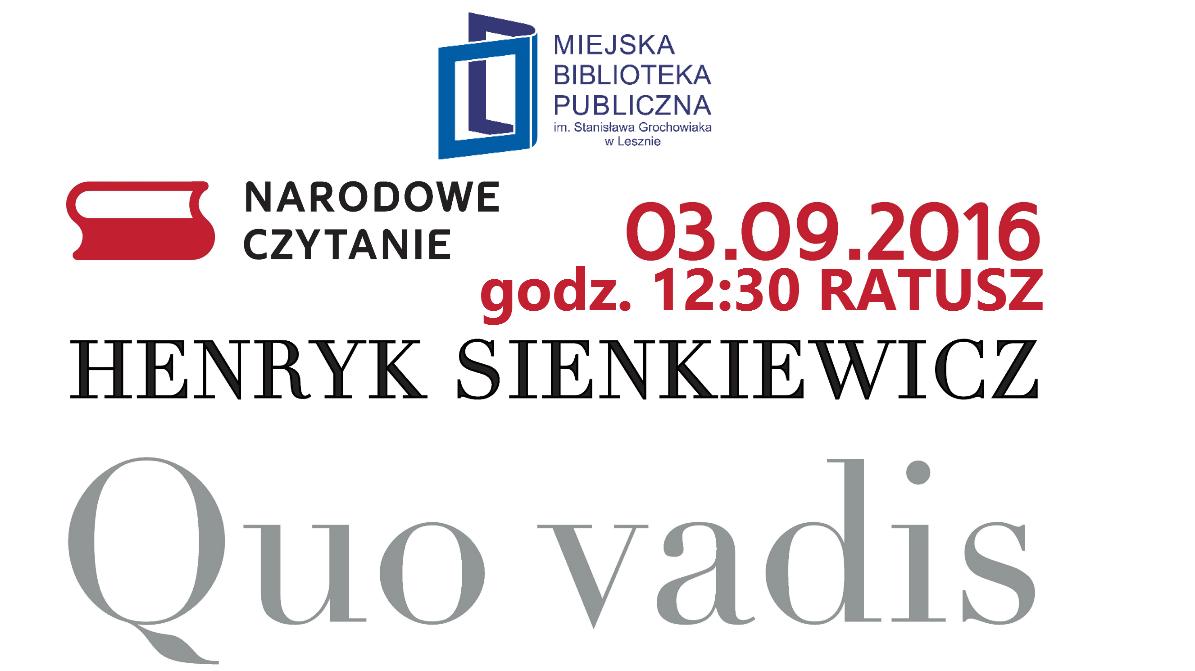 nardowe czytanie w Lesznie