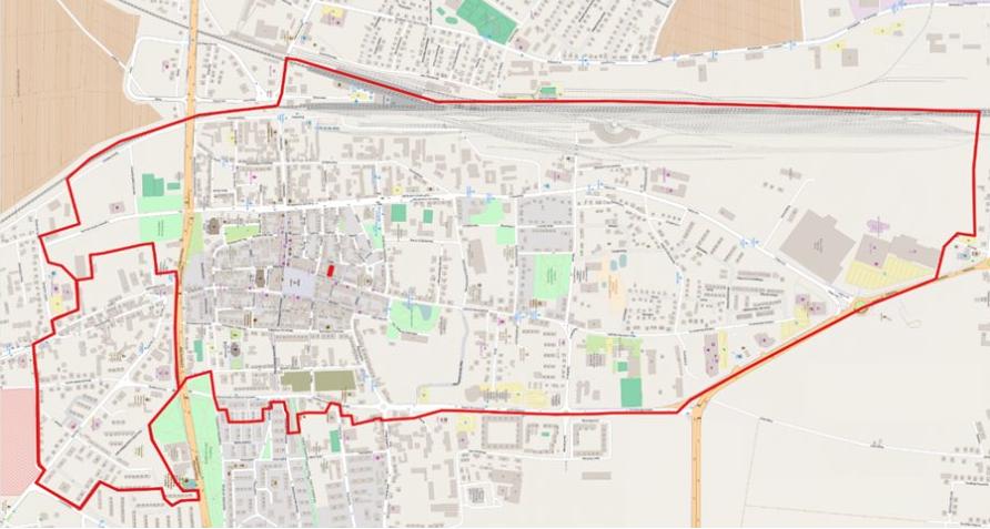 Na zdjęciu obszar miasta przeznaczony do rewitalizacji. Źródło: leszno.pl