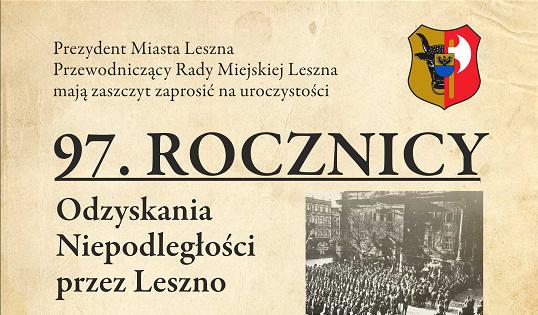 97. rocznica odzyskania niepodległości przez Leszno