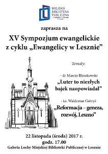 sympozjum ewangelickie-plakat