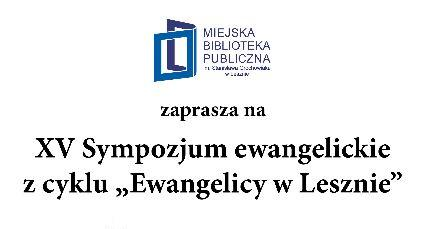"""""""Ewangelicy w Lesznie"""""""