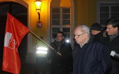 Edward Szczucki na manifestacji Wolność, Równość, Demokracja! (wideo)